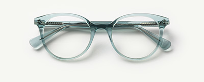 Rosalind in Aqua Crystal Glasses