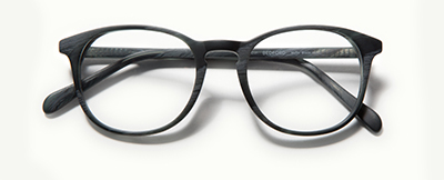 Bedford in Matte Black Horn Glasses