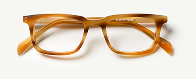 Duke in Caramel Horn  Eyeglasses